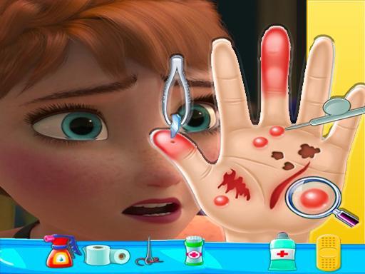 Anna smrznuti Hand Doctor: Zabavne igre za djevojčice Onlin