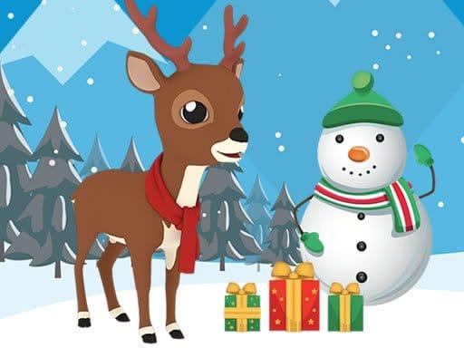 Jigsaw božićni jelen