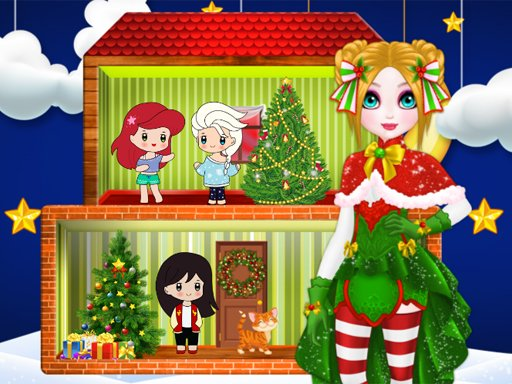 Božićna kuća lutaka princeza