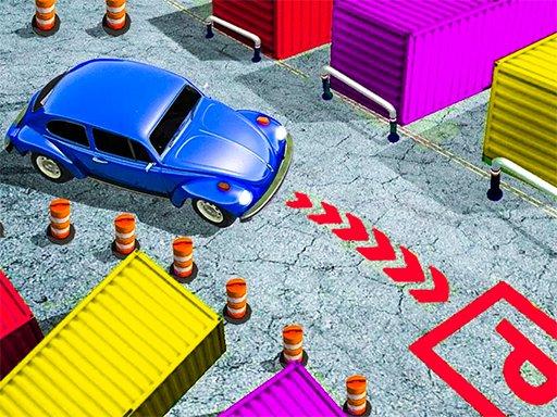 Klasično parkiralište za automobile 3D