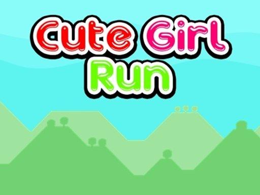 Slatka djevojka trči