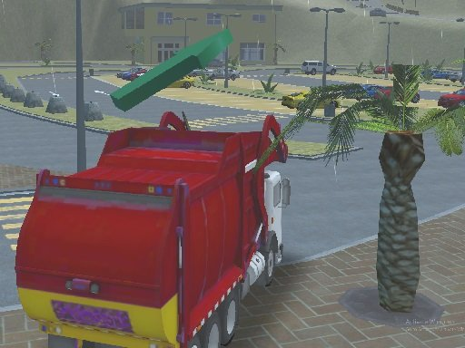 Otok čisti kamion smeće Sim