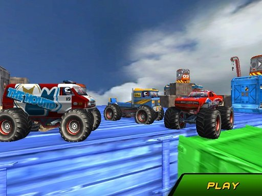Monster Truck vratolomije Vožnja nebom