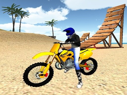 Motocross vratolomije na plaži 3D