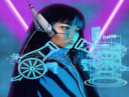 Neonski cyber top