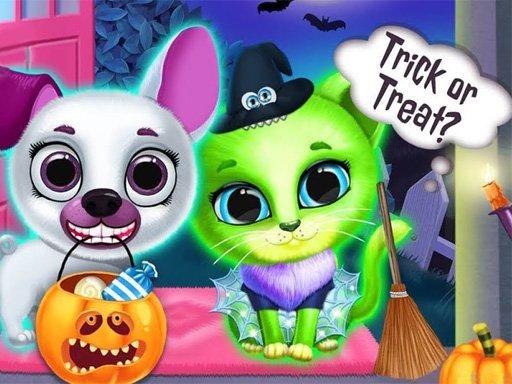 Zastrašujući preobrazba Halloween Pet Salon