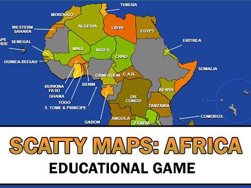 Karte Scatty Afrika
